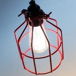 Lichtlab hanglamp No.15 kooi rood - detail 2
