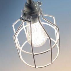 Lichtlab hanglamp No.15 kooi wit - detail 2