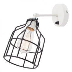 Lichtlab wandlamp No.15 kooi wit - zwart