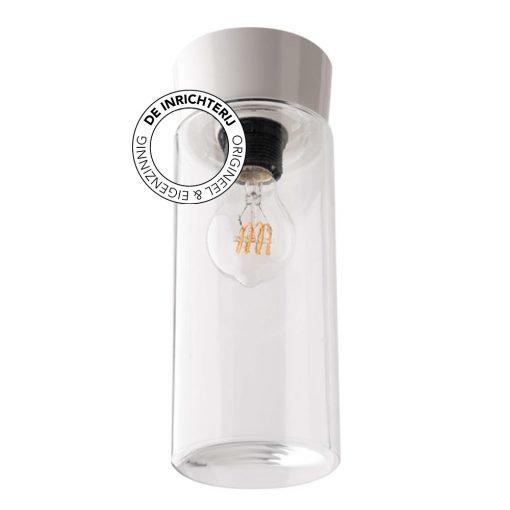 De Inrichterij plafonnière bakeliet Cilinder Strak - helder wit