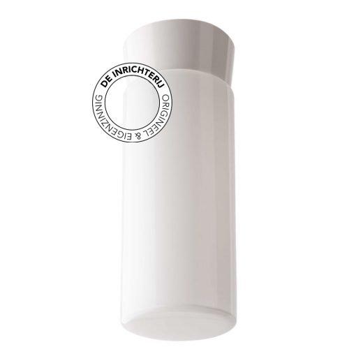 De Inrichterij plafonnière bakeliet Cilinder Strak - opaal wit