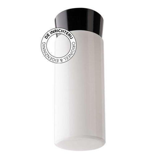 De Inrichterij plafonnière bakeliet Cilinder Strak - opaal zwart