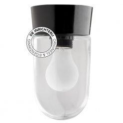 De Inrichterij plafonnière bakeliet Cilinder medium - helder zwart