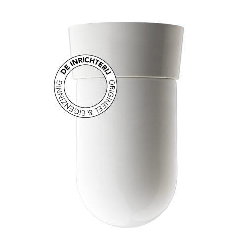 De Inrichterij plafonnière bakeliet Cilinder medium - opaal wit