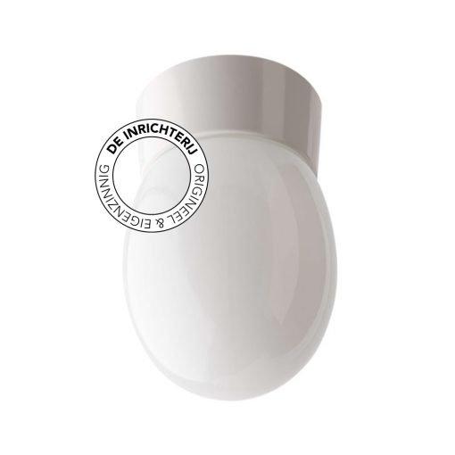 De Inrichterij plafonnière bakeliet Druppel - opaal wit