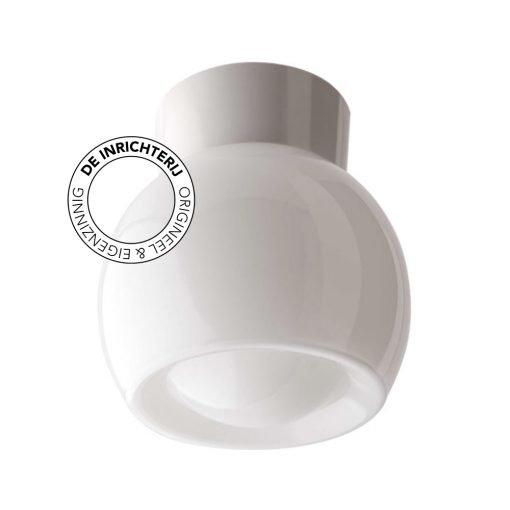 De Inrichterij plafonnière bakeliet Knop - opaal wit