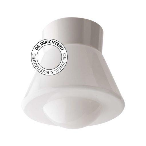 De Inrichterij plafonnière bakeliet Komeet Bol - opaal wit