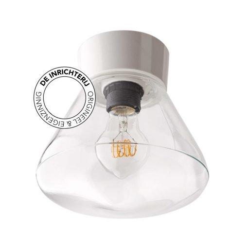 De Inrichterij plafonnière bakeliet Schoollamp - helder wit