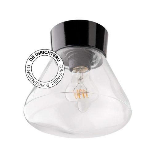 De Inrichterij plafonnière bakeliet Schoollamp - helder zwart