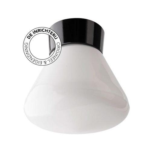 De Inrichterij plafonnière bakeliet Schoollamp - opaal zwart