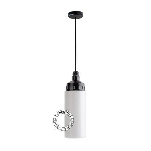 De Inrichterij hanglamp bakeliet Cilinder strak - opaal