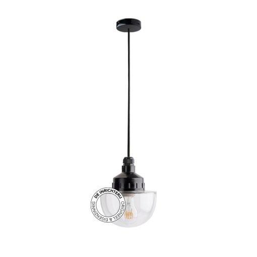 De Inrichterij hanglamp bakeliet Halve Bol - helder
