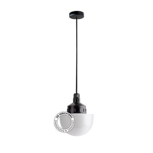 De Inrichterij hanglamp bakeliet Halve Bol - opaal