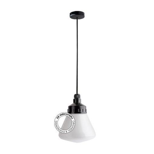 De Inrichterij hanglamp bakeliet Schoollamp - opaal