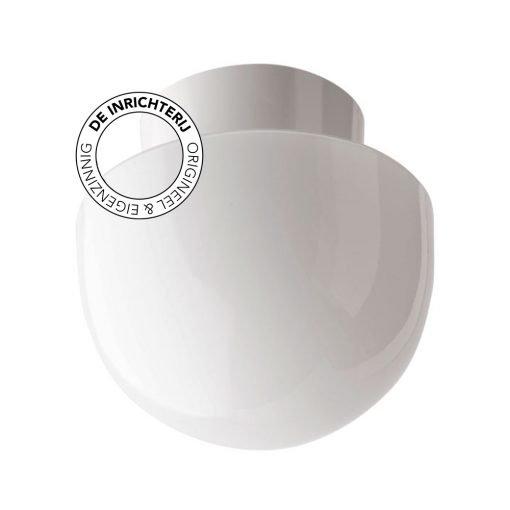 De Inrichterij plafonnière bakeliet Halve Bol - opaal wit