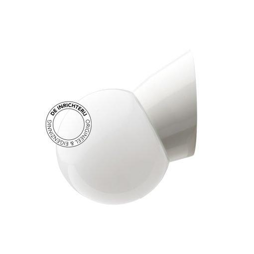 De Inrichterij wandlamp bakeliet Bol - opaal wit
