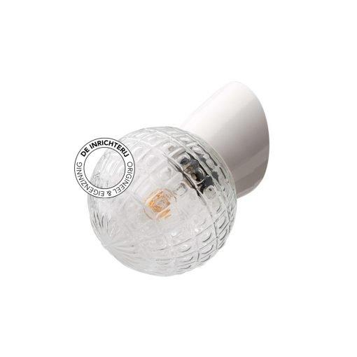 De Inrichterij wandlamp bakeliet Deco Bol - helder wit