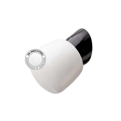 De Inrichterij wandlamp bakeliet Emmer - opaal zwart