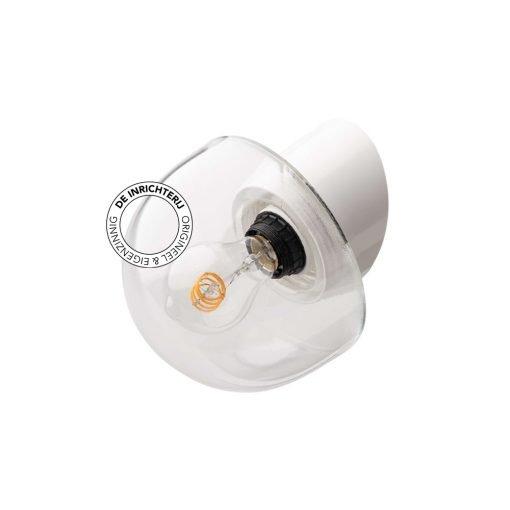 De Inrichterij wandlamp bakeliet Halve Bol - helder wit