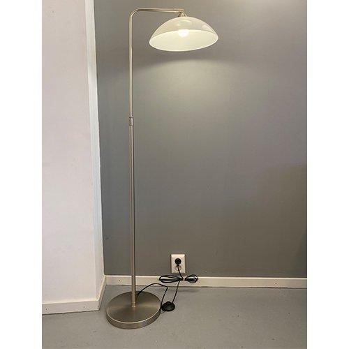 Oldtimer Light staande leeslamp Halve schaal - opaal